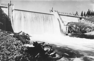 Easton Dam, July 1931.